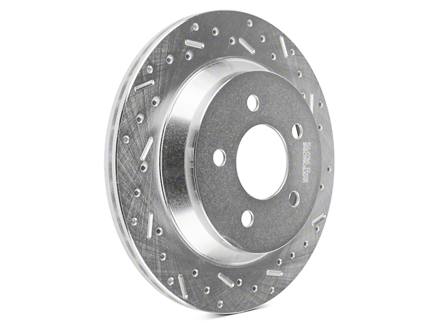 Xtreme Stop Precision Cross-Drilled & Slotted Rotors - Rear Pair (94-04 Cobra, Bullitt, Mach 1)
