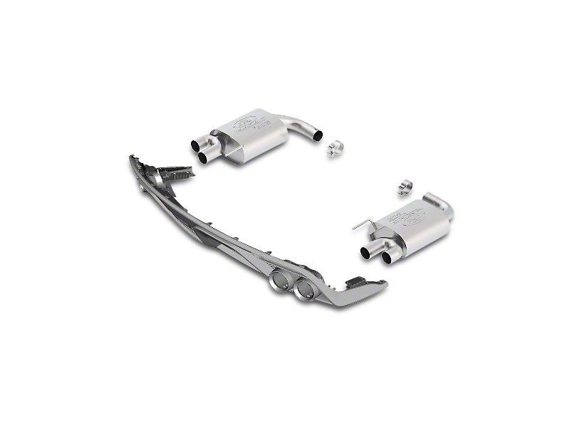 Ford Performance by Borla Touring Axle-Back Exhaust w/ GT350 Lower Valance (15-17 GT Premium)