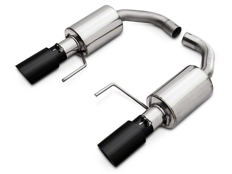 Pypes Street Pro Touring Axle-Back Exhaust - Black Tips (15-17 V6)