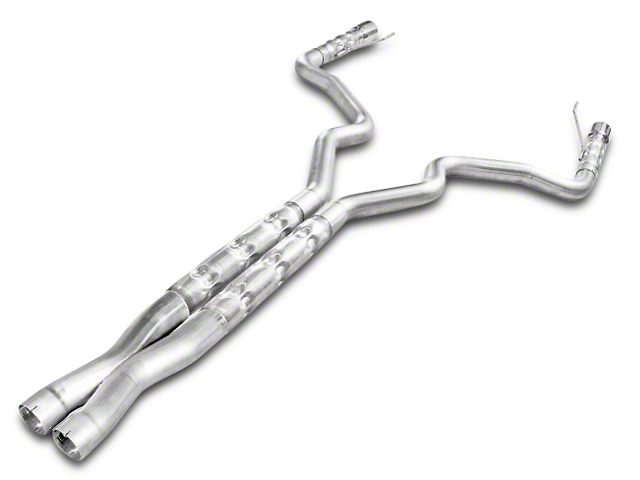 Stainless Works 3 in Retro Chambered Cat-Back Exhaust w/ X-Pipe (15-17 GT Fastback w/ Long Tube Headers)