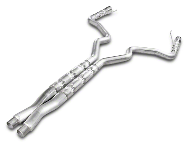 Stainless Works 3 in. Retro Chambered Cat-Back Exhaust w/ X-Pipe (15-17 GT Fastback)