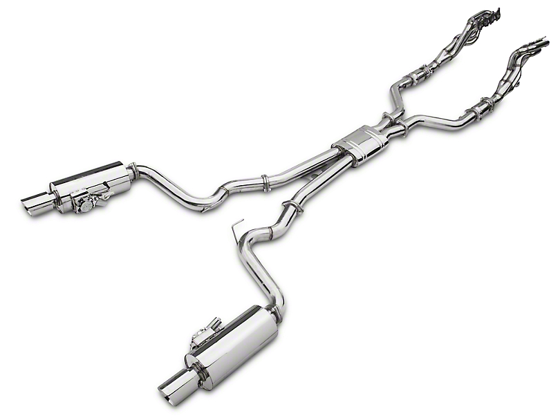 X-Force 1-7/8 x 3 in. Varex Long Tube Catted Headers w/ Cat-Back Exhaust System (15-17 GT)