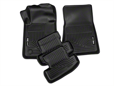 Husky WeatherBeater Front & Rear Floor Liners - Black (15-18 All)