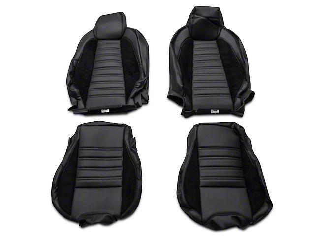 TMI Sport R Full Seat Upholstery & Front Bucket Foam - Black (15-18 Fastback)