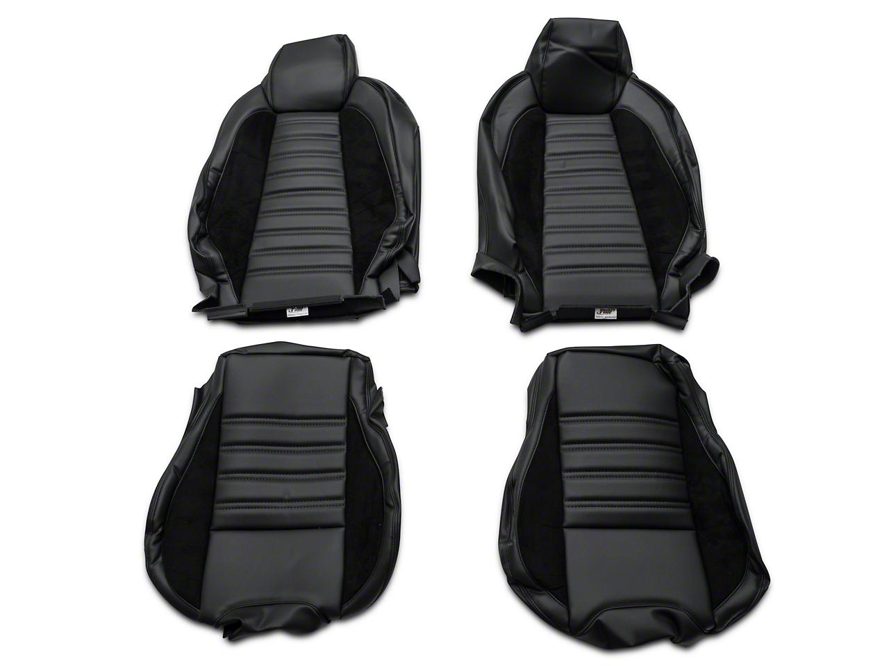 TMI Sport R Full Seat Upholstery & Front Bucket Foam - Black (15-19 Fastback)