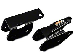 J&M Rear Lower Control Arm Relocation Brackets; Black (05-14 All)