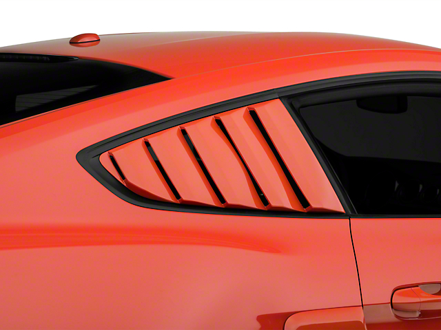 Street Scene Quarter Window Louvers - Unpainted (15-18 Fastback)