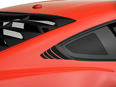 American Muscle Graphics Matte Black Quarter Window Accent (15-18 All)