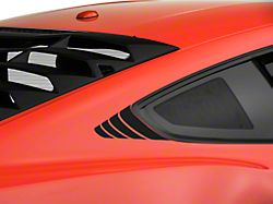 American Muscle Graphics Matte Black Quarter Window Accent (15-19 All)