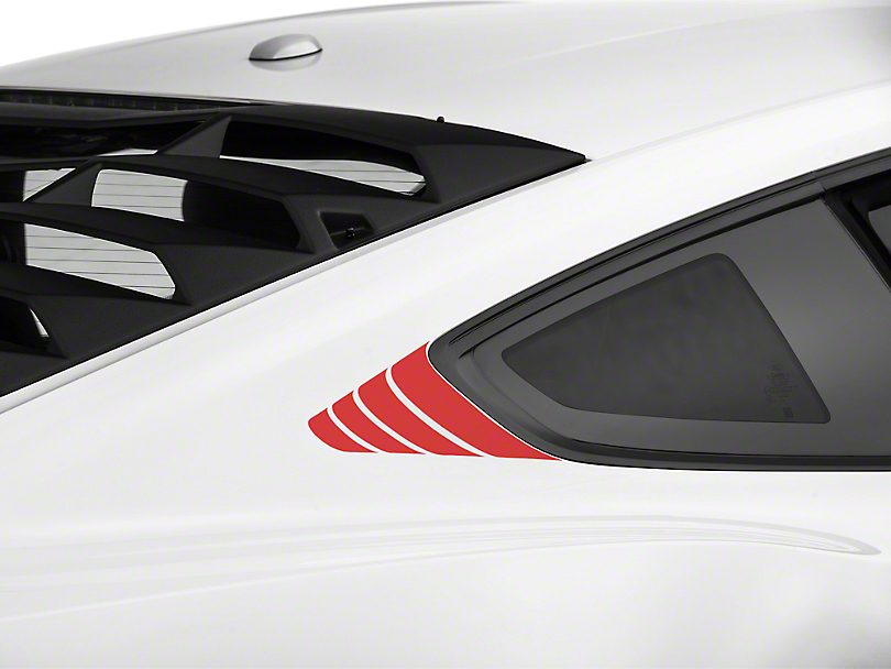 American Muscle Graphics Red Quarter Window Accent (15-19 All)