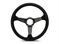 3-Spoke Steering Wheel; Black Suede (84-04 All)