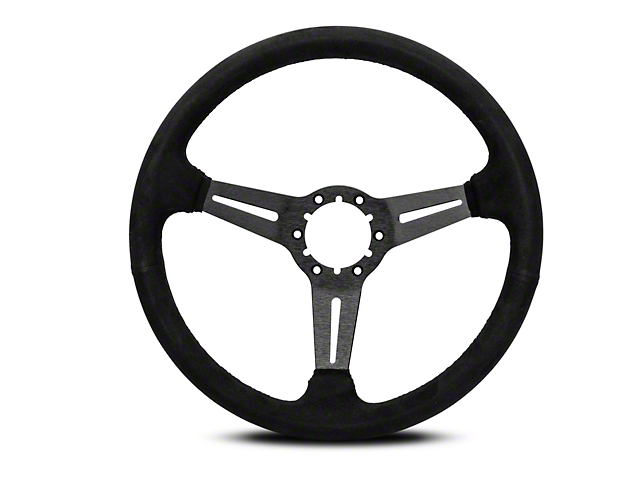 OPR 3 Spoke Steering Wheel w/ Slots - Black Suede (84-04 All)