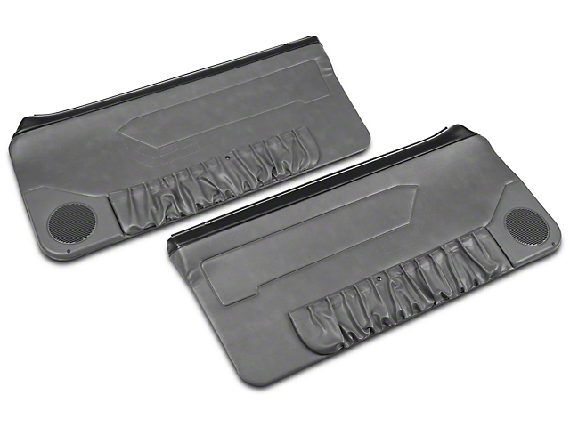 OPR Convertible Door Panels for Manual Windows - Smoke Gray (87-93 All)