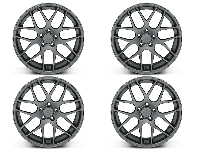 AMR Charcoal 4 Wheel Kit - 19x8.5 (15-18 GT, EcoBoost, V6)