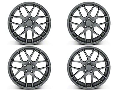AMR Charcoal 4 Wheel Kit - 19x8.5 (15-19 GT, EcoBoost, V6)