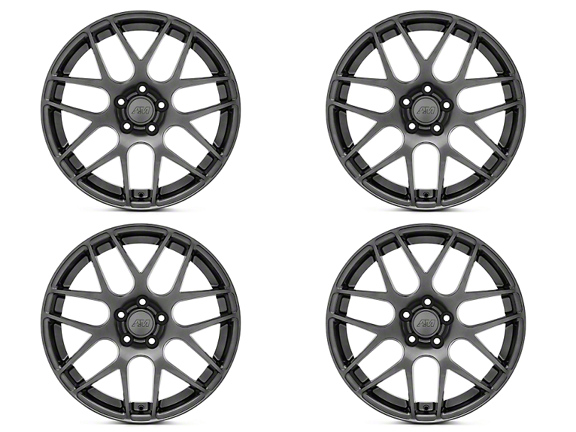 AMR Dark Stainless 4 Wheel Kit - 19x8.5 (15-19 GT, EcoBoost, V6)