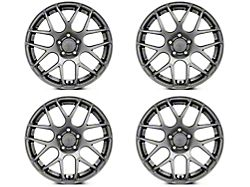 Staggered AMR Dark Stainless 4 Wheel Kit; 18x9/10 (05-09 All)