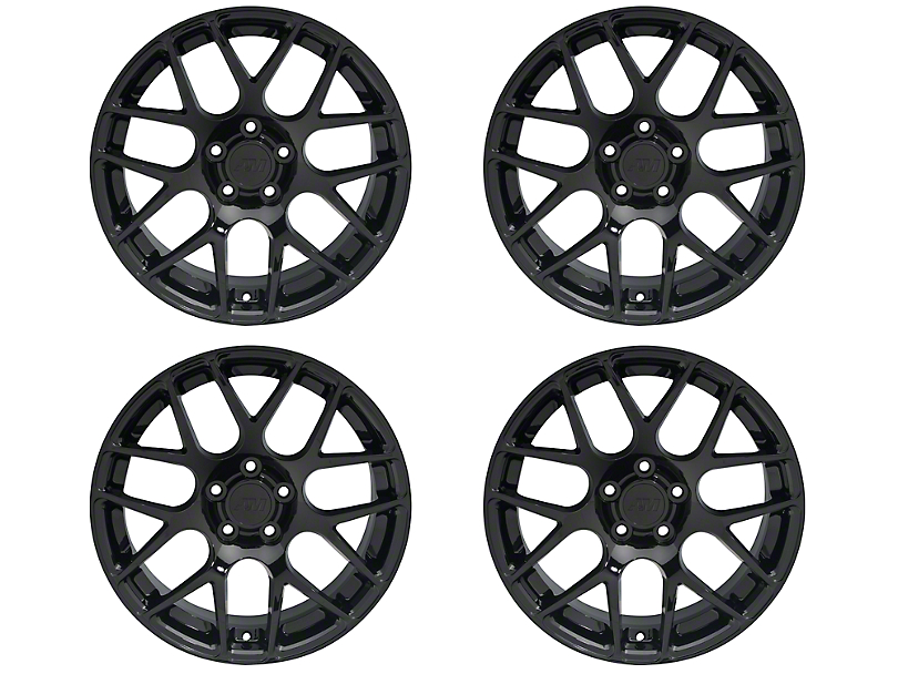 Staggered AMR Black 4 Wheel Kit - 18x9/10 (05-14 All)