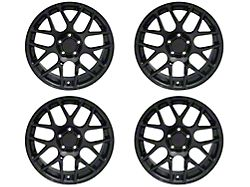 Staggered AMR Black 4 Wheel Kit; 18x9/10 (05-09 All)