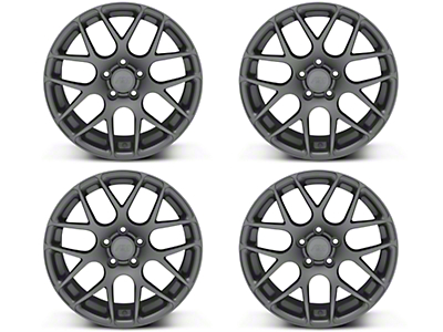 Staggered AMR Charcoal 4 Wheel Kit - 18x9/10 (05-14 All)