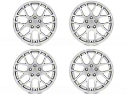 Staggered AMR Silver 4 Wheel Kit; 18x9/10 (05-09 All)