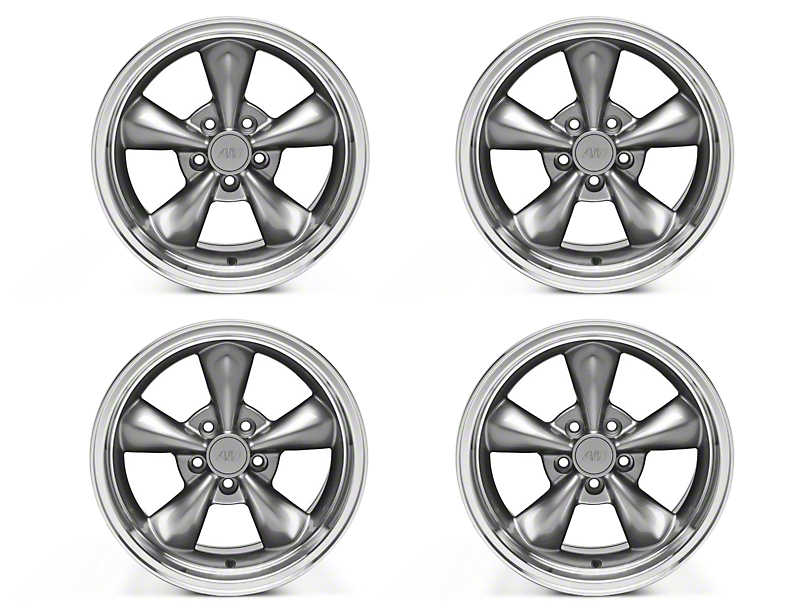 Staggered Bullitt Anthracite 4 Wheel Kit - 17x9/10.5 (94-04 All)