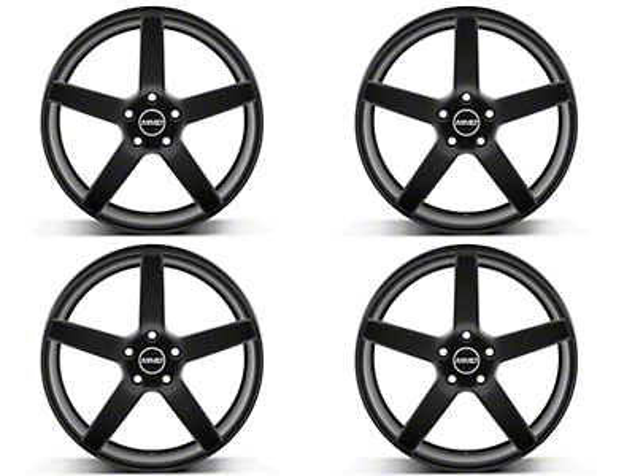MMD 551C Matte Black 4 Wheel Kit - 20x8.5 (05-14 All)