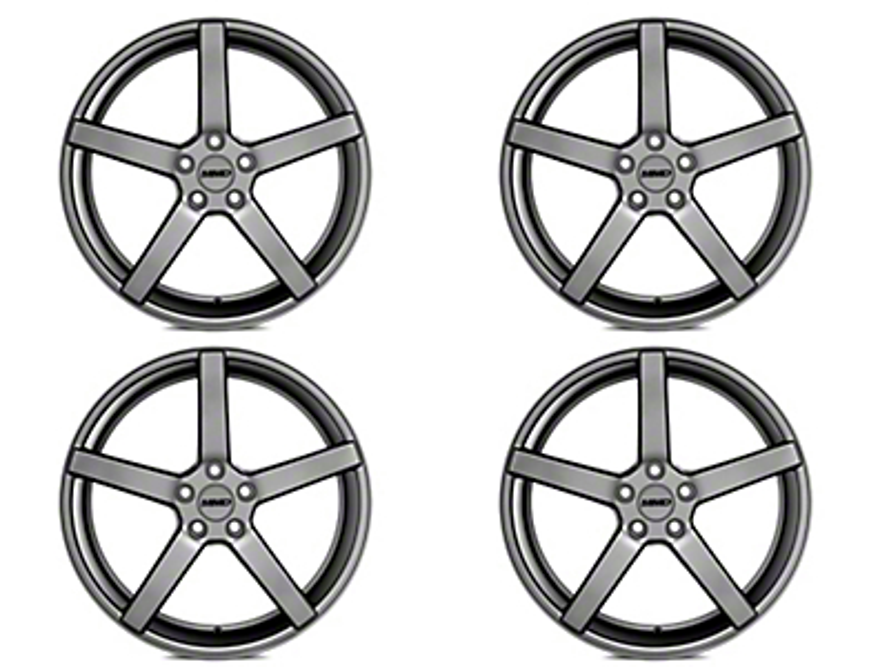 MMD 551C Charcoal 4 Wheel Kit - 20x8.5 (05-14 All)