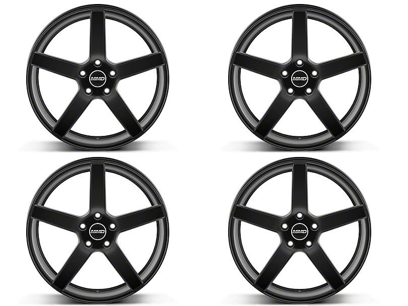Staggered MMD 551C Matte Black 4 Wheel Kit - 20x8.5/10 (05-14 All)