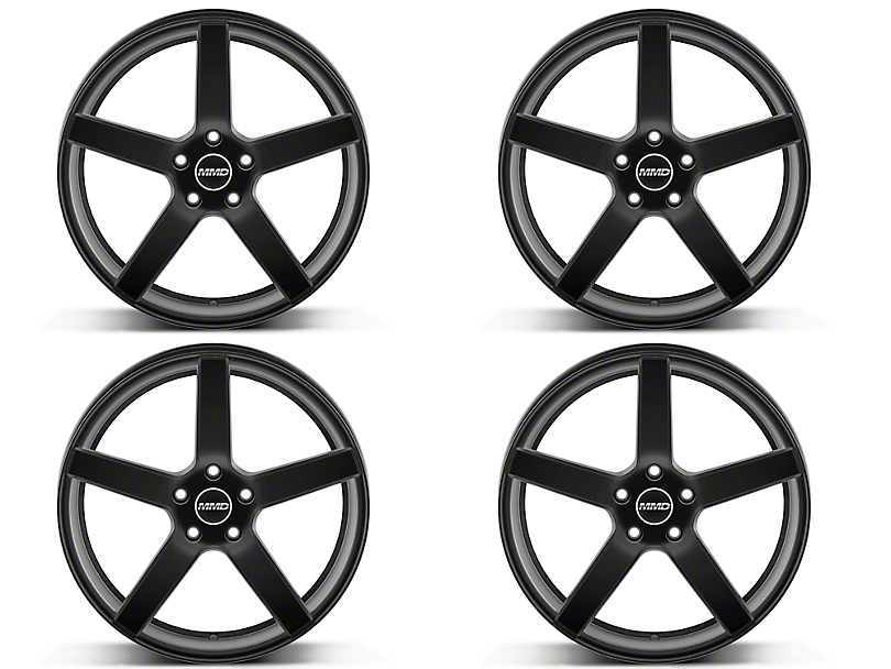 MMD 551C Matte Black 4 Wheel Kit - 20x8.5 (15-18 GT, EcoBoost, V6)
