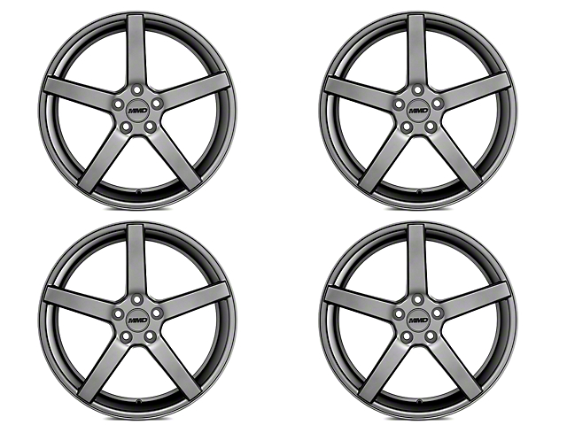 MMD 551C Charcoal 4 Wheel Kit - 20x8.5 (15-18 GT, EcoBoost, V6)