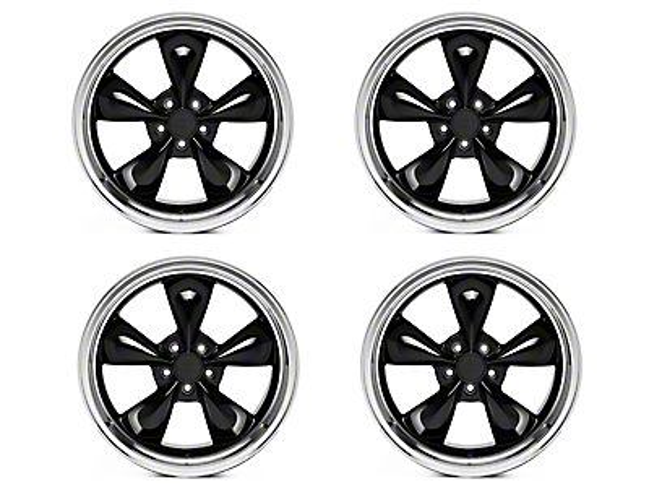 Deep Dish Bullitt Black 4 Wheel Kit - 20x8.5 (05-14 V6; 05-10 GT)