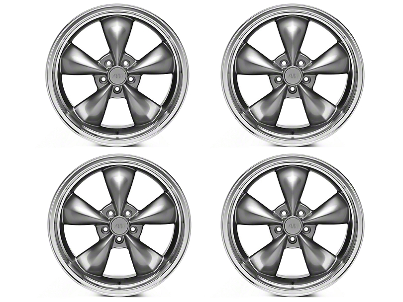 Deep Dish Bullitt Anthracite 4 Wheel Kit - 20x8.5 (05-10 GT; 05-14 V6)