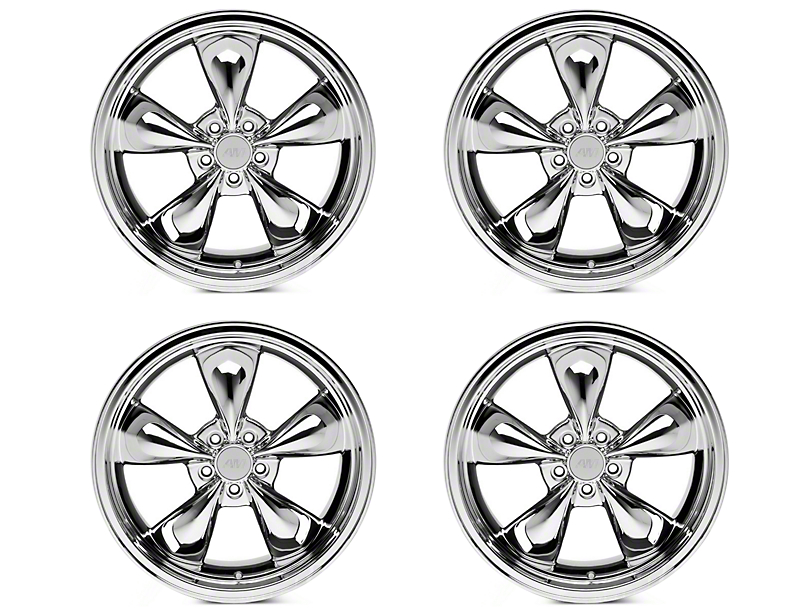 Deep Dish Bullitt Chrome 4 Wheel Kit - 20x8.5 (05-14 V6; 05-10 GT)