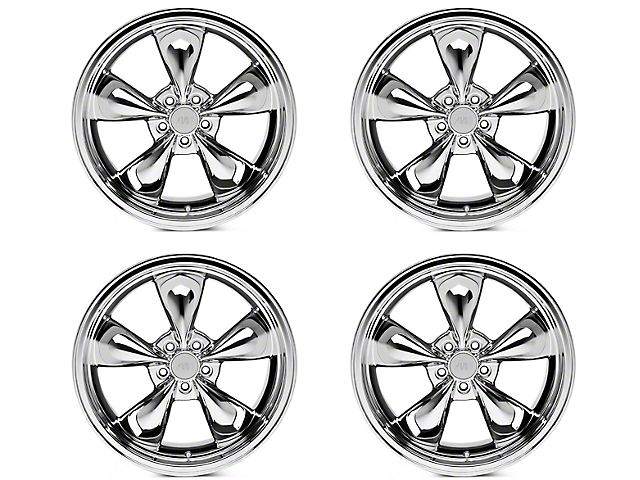 Deep Dish Bullitt Chrome 4 Wheel Kit - 20x8.5 (05-10 GT; 05-14 V6)