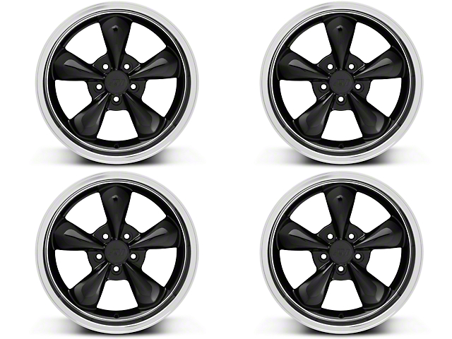 Staggered Deep Dish Bullitt Black 4 Wheel Kit - 20x8.5/10 (05-10 GT; 05-14 V6)
