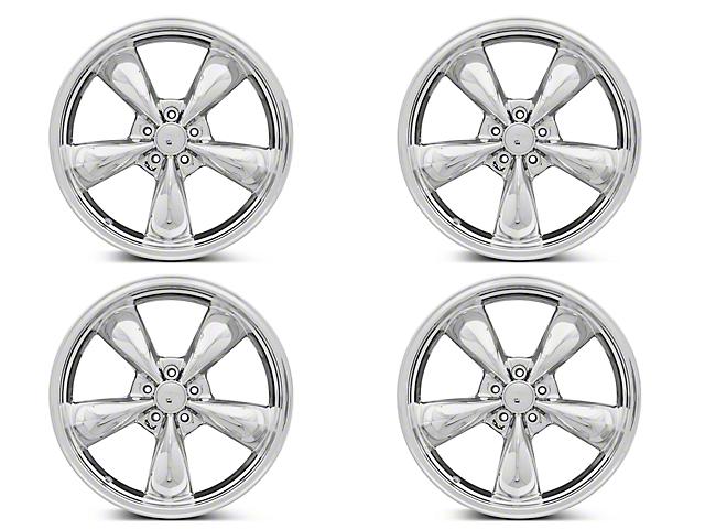 Staggered Deep Dish Bullitt Chrome 4 Wheel - 20x8.5/10 (05-10 GT; 05-14 V6)