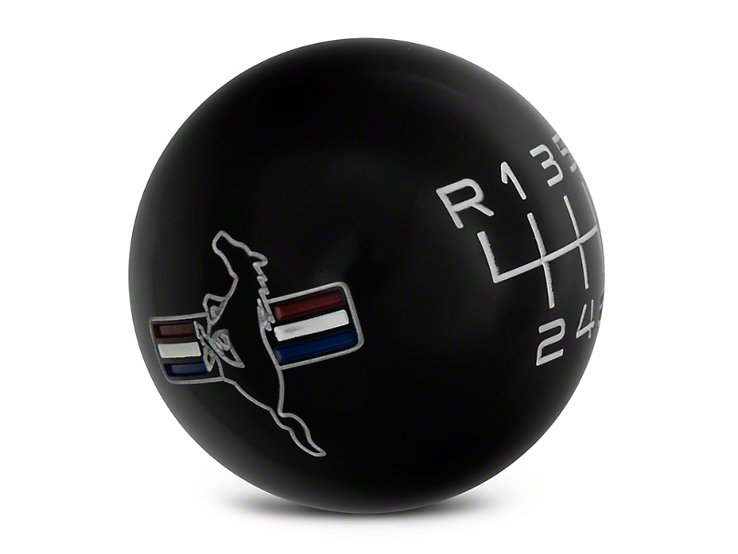 Modern Billet Retro 6-Speed Shift Knob w/Tri-Bar Logo - Black (15-20 GT, EcoBoost, V6)