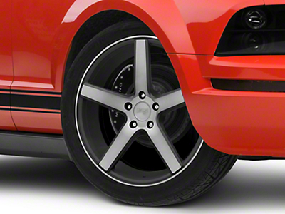 Niche Milan Black Machined Wheel - 19x8.5 (05-14 All, Excluding 13-14 GT500)