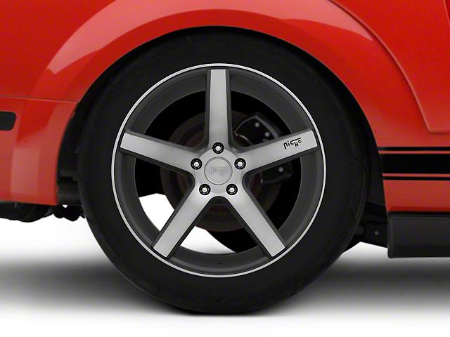 Niche Milan Black Machined Wheel - 19x9.5 (05-14; 15-18 GT, EcoBoost, V6)