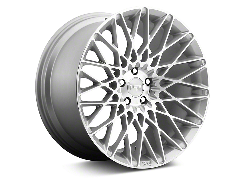 Niche Citrine Silver Machined Wheel - 19x9.5 (05-14 All; 15-18 GT, EcoBoost, V6)