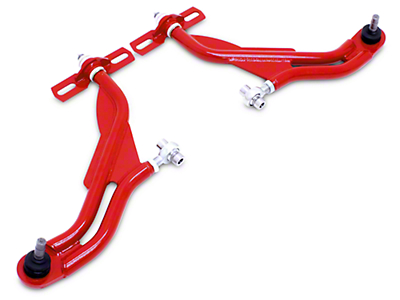 BMR Adjustable Front Lower Control A-Arms - Standard Ball Joint - Red (05-09 All)