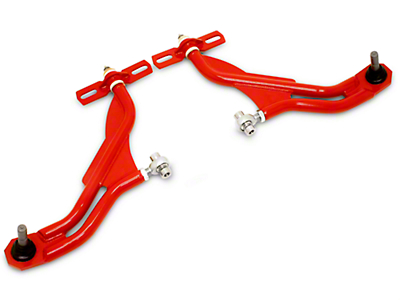 BMR Adjustable Front Lower Control A-Arms - Extended Ball Joint - Red (10-14 All)