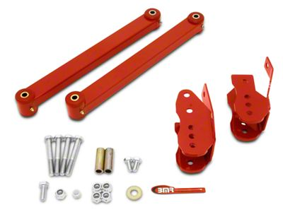 BMR Steel Anti-Wheel Hop Package - Red (05-14 All)