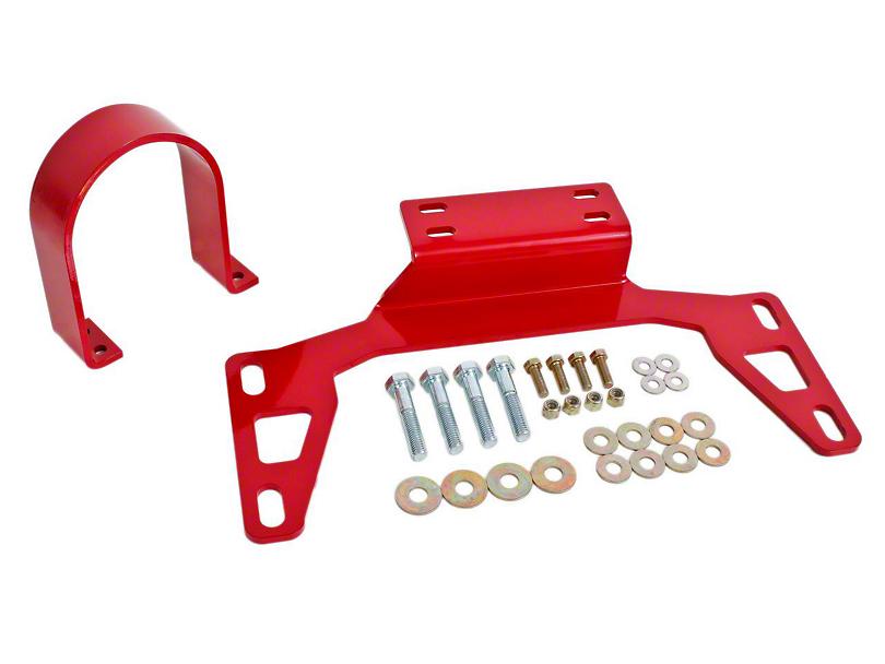 BMR Front Driveshaft Safety Loop - Red (11-20 GT, EcoBoost, V6)