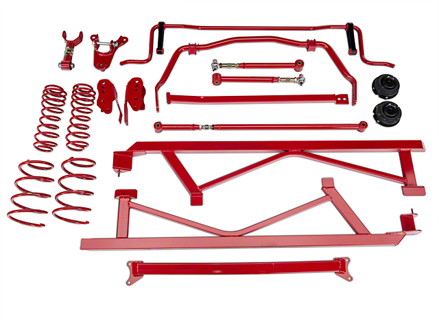BMR Level 2 Handling Performance Package - Red (05-10 GT, V6)