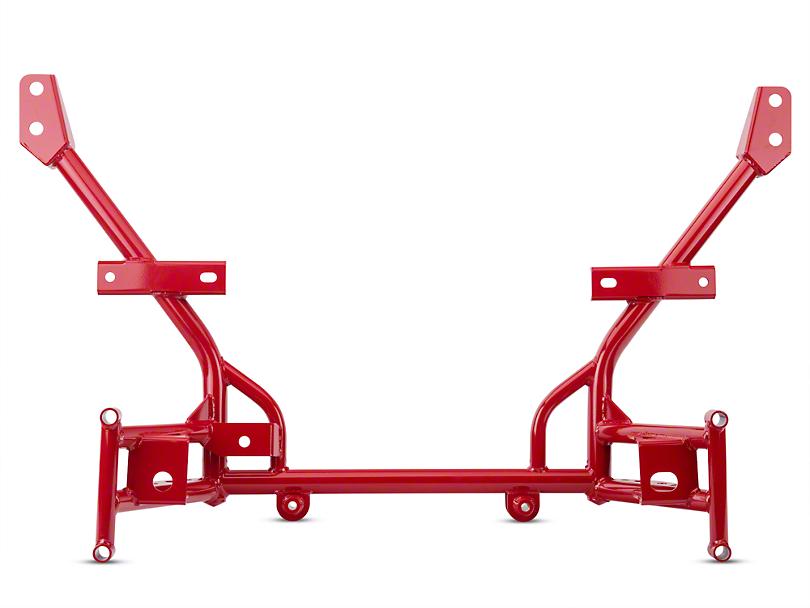 BMR Tubular K-Member - Lowered Motor Mounts - Red (05-14 All)