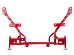 BMR K-Member with Standard Motor Mounts; Standard Rack Mount; Red (05-14 All)