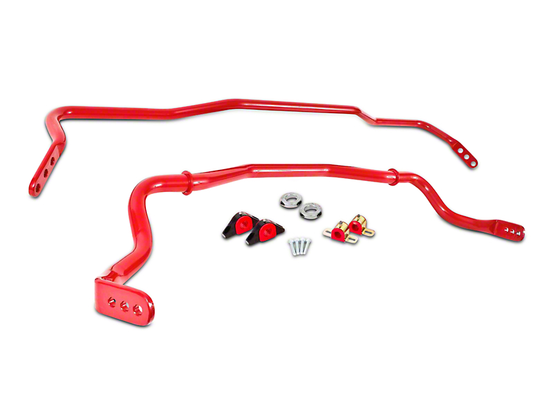 BMR Adjustable Front & Rear Sway Bars - Red (15-17 All)