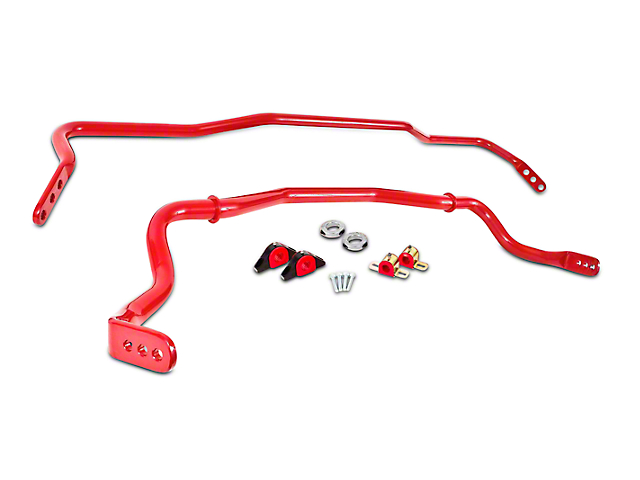 BMR Adjustable Front & Rear Sway Bars - Red (15-18 All)